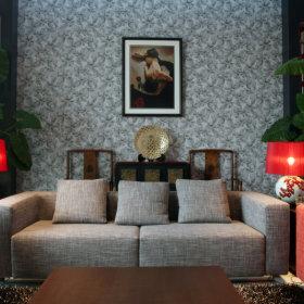 中式中式风格客厅复式楼设计案例