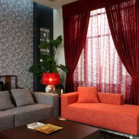中式中式风格新中式浪漫客厅复式楼效果图