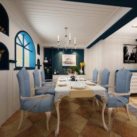 地中海餐厅复式楼案例展示