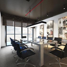 现代现代风格会议室图片