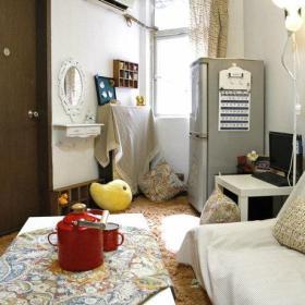 自然温馨客厅沙发梳妆台妆台懒人沙发写字桌装修案例