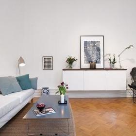 宜家简约客厅沙发茶几椅躺椅装修图