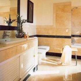 现代简约时尚卫生间大理石瓷砖效果图