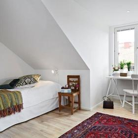 简约卧室单人床椅设计案例展示