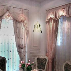 卫生间办公室窗帘玻璃门窗帘布装修案例