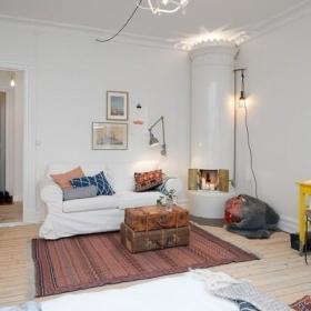 复古客厅沙发布艺沙发装修图