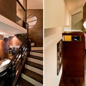 楼梯橡木地板木地板装修效果展示