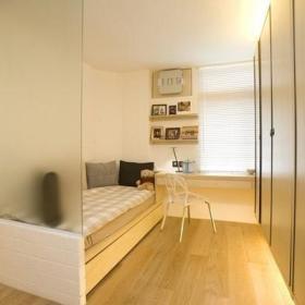 卧室单人床装修效果展示