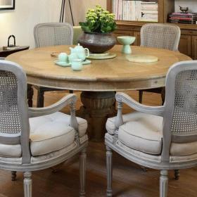 欧式客厅餐厅餐桌欧式餐桌椅欧式餐桌餐桌椅边柜椅摆件案例展示