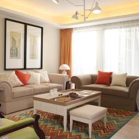 客厅沙发布艺沙发设计图