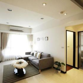 40平方米现代简约单身公寓客厅装修效果图