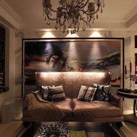 欧式复古古典奢华沙发水晶吊灯图片