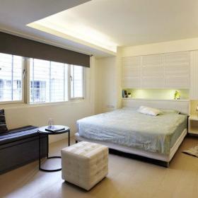 卧室木质地板效果图
