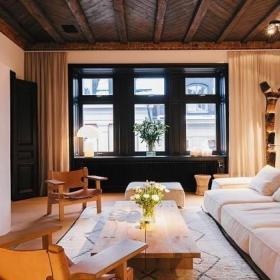 复古现代沙发布艺沙发装修效果展示