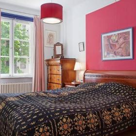复古简约卧室实木床木床柜子设计图
