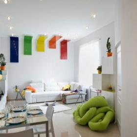 精致客厅沙发懒人沙发设计案例
