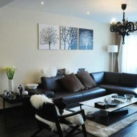 客厅沙发茶桌灯具图片
