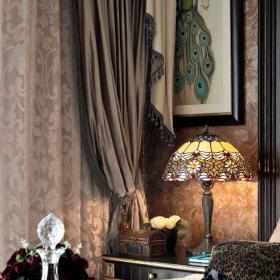 复古典雅卧室窗帘装修图