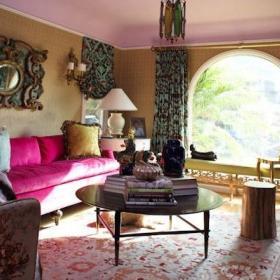 欧式窗帘沙发布艺沙发设计案例展示