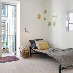 自然卧室阳台沙发沙发床设计案例