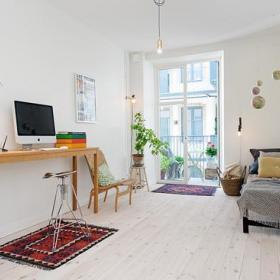不能再简单了 107平素雅北欧风格公寓