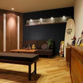 清新自然温馨浪漫客厅沙发茶几布艺沙发设计案例