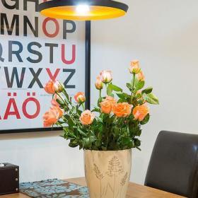 清新自然简约典雅浪漫餐厅植物餐桌木质餐桌装修案例