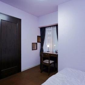 日式温馨浪漫卧室窗帘梳妆台妆台布艺窗帘案例展示