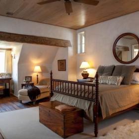 卧室椅躺椅木地板装修图