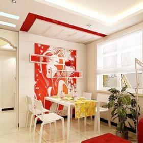 客厅餐厅隔断沙发沙发凳柜子设计方案