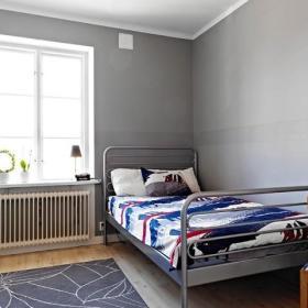 现代卧室单人床折叠单人床装修效果展示