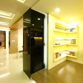书房书架壁纸效果图