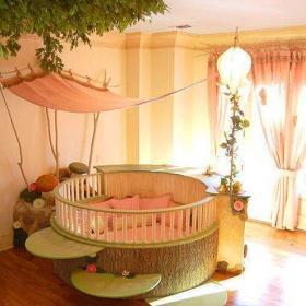 温馨圆床设计案例展示