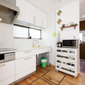 欧式日式时尚厨房碗碟柜子装修案例