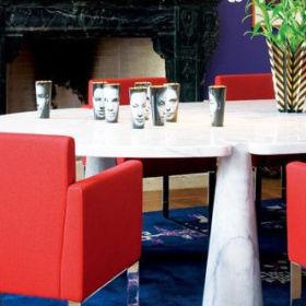 现代餐桌大理石餐桌椅装修效果展示