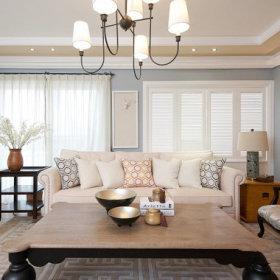 美式清新自然现代客厅沙发客厅沙发装修图