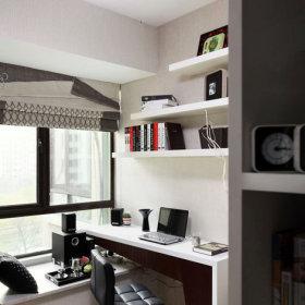 书房窗帘桌子设计图