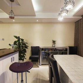 客厅餐厅吧台边柜效果图