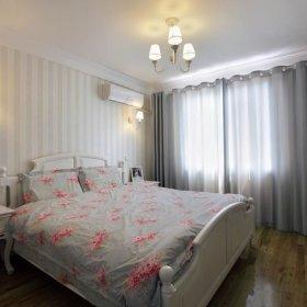 简欧窗帘大床壁纸设计案例展示