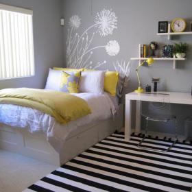 简约时尚卧室壁纸设计图