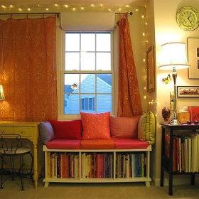 沙发书架装修效果展示