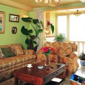 田园客厅沙发茶几装修效果展示