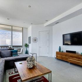 休闲区背景墙沙发布艺沙发设计案例