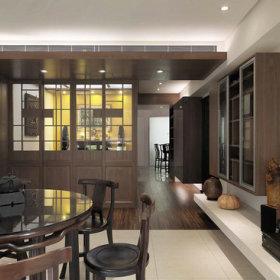 中式古典客厅餐厅装修案例