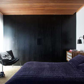 自然背景墙大床床架设计图
