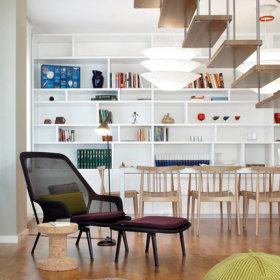 楼梯书架装修图