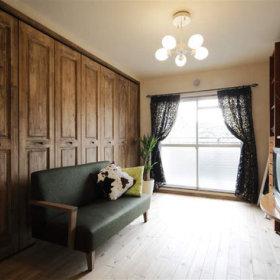清新自然现代典雅客厅窗帘沙发木门设计案例展示
