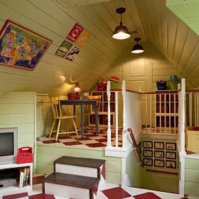 儿童房阁楼实木地板木地板复合地板图片