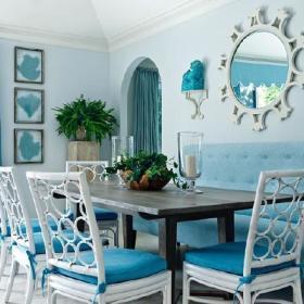 清新餐厅沙发布艺沙发案例展示