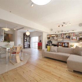 客厅沙发木质地板图片